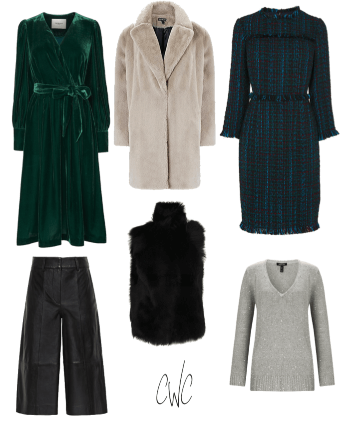 Core pieces from a 3-day Christmas capsule wardrobe